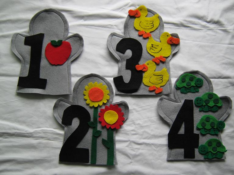 Number Set (1 to 10) Puppets